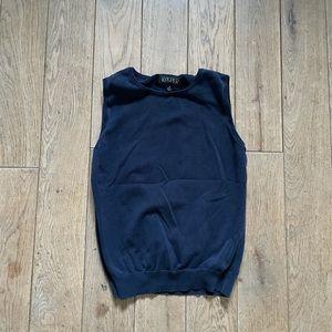 Navy sweater tank vest